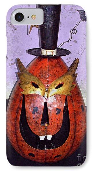 Masquerade Mask Pumpkin - Halloween Art Phone Case by Ella Kaye Dickey