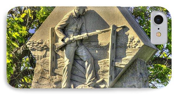 Massachusetts At Gettysburg 1st Mass. Volunteer Infantry Skirmishers Close 1 Steinwehr Ave Autumn Phone Case by Michael Mazaika