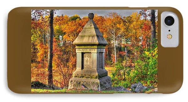 Massachusetts At Gettysburg - 22nd Mass. Volunteer Infantry - In The Rose Woods Phone Case by Michael Mazaika