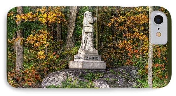 Massachusetts At Gettysburg - 37th Mass. Infantry Autumn Early-evening Sedgwick Avenue Phone Case by Michael Mazaika