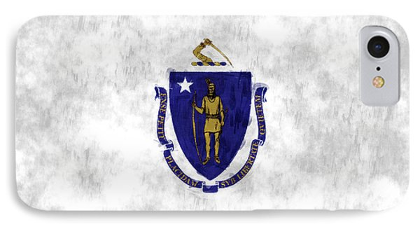 Massachusetts Flag IPhone Case by World Art Prints And Designs