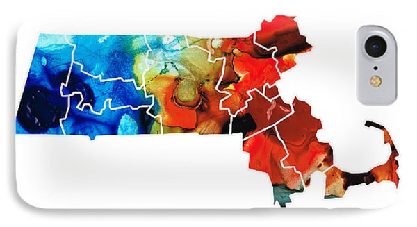 Massachusetts - Map Counties By Sharon Cummings IPhone Case