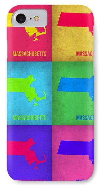 Massachusetts Pop Art Map 1 Phone Case by Naxart Studio