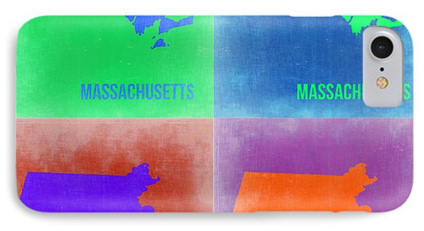 Massachusetts Pop Art Map 2 Phone Case by Naxart Studio