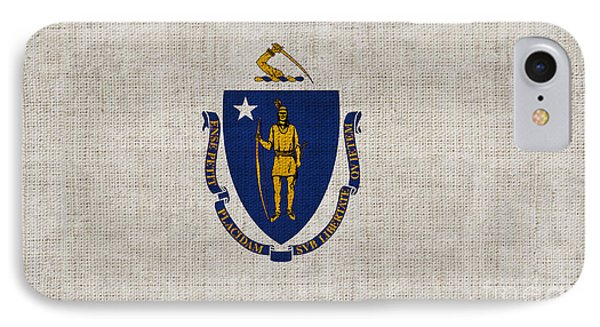 Massachusetts State Flag Phone Case by Pixel Chimp
