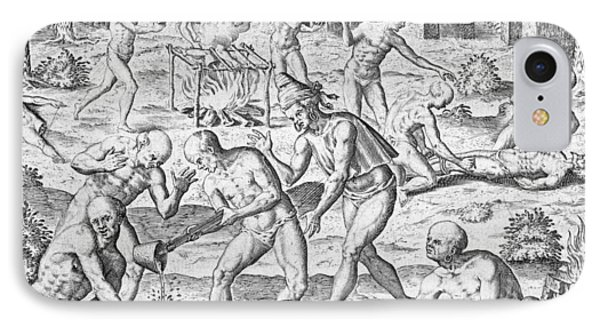 Massacre Of Christian Missionaries Phone Case by Theodore De Bry