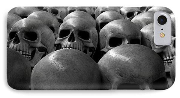 Massacre Of Skulls Phone Case by Allan Swart