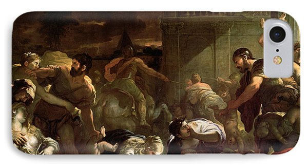 Massacre Of The Innocents IPhone Case by Luca Giordano