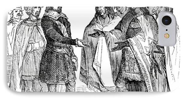 Massasoit Forges Treaty With Pilgrims IPhone Case