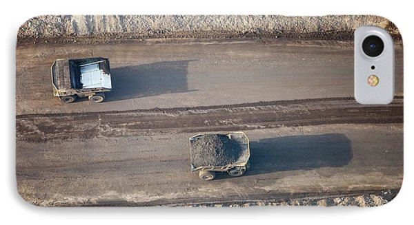 Massive Dump Trucks Loaded With Tar Sand IPhone Case by Ashley Cooper