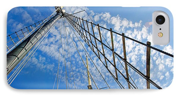 IPhone Case featuring the photograph Masted Sky by Keith Armstrong