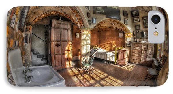 Master Bedroom At Fonthill Castle Phone Case by Susan Candelario