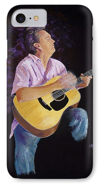 IPhone Case featuring the painting Master In The Spotlight by Margaret Bobb