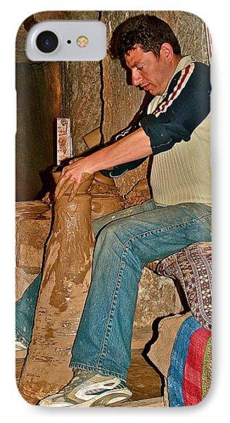 Master Potter At Work In Avanos-turkey IPhone Case