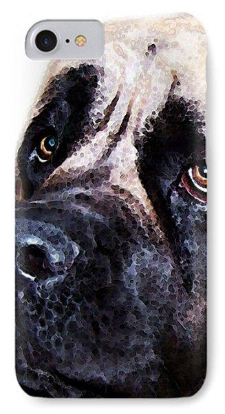 Mastiff Dog Art - Sad Eyes IPhone Case