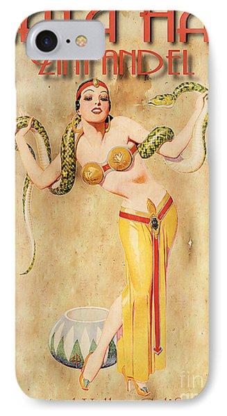 Mata Hari Vintage Wine Ad IPhone Case by Cinema Photography