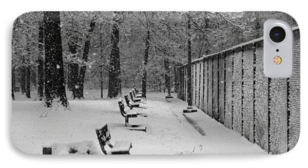 IPhone Case featuring the photograph Match Called For Snow by Andy Lawless