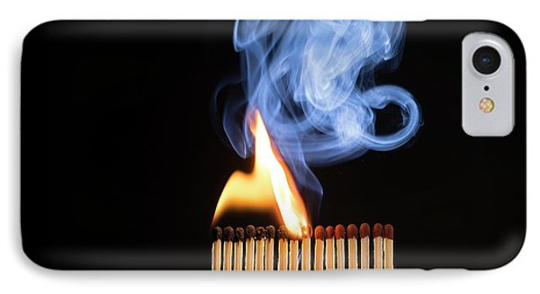 Matches Igniting IPhone Case by Daniel Sambraus