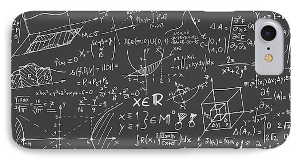 Maths Blackboard IPhone Case by Gina Dsgn