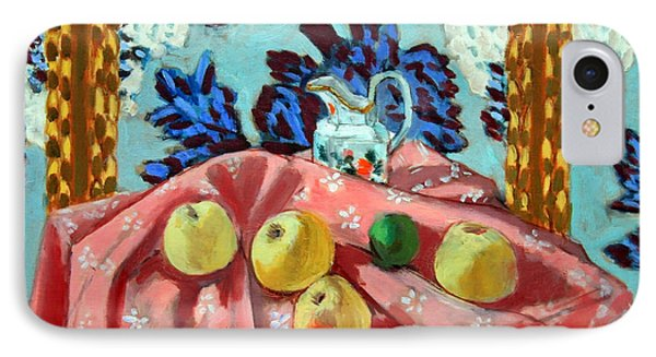 Matisse's Still Life With Apples On A Pink Tablecloth IPhone Case by Cora Wandel