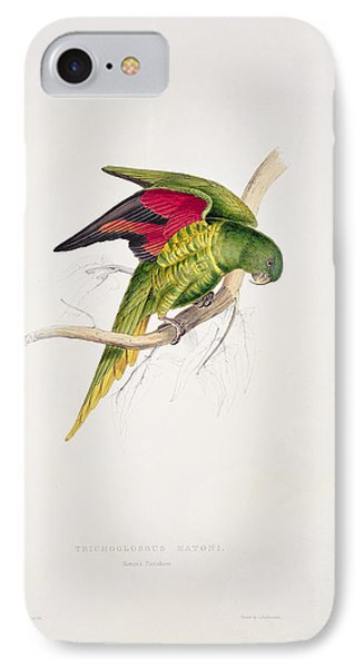 Parakeet iPhone 7 Case - Matons Parakeet by Edward Lear