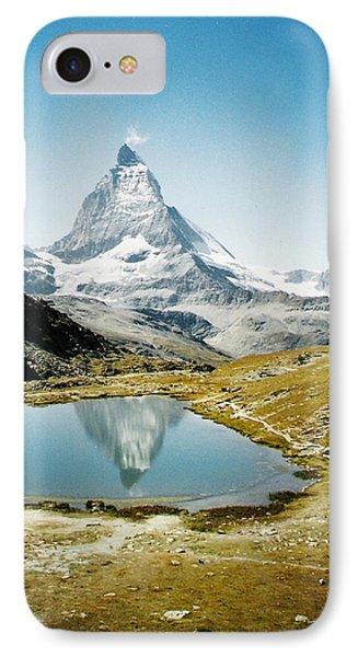 Matterhorn Cervin Reflection IPhone Case by Mary Ellen Mueller Legault