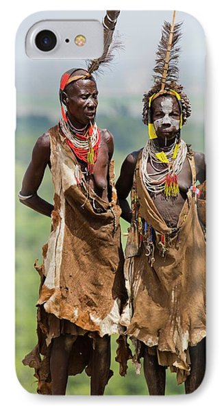 Mature Karo Tribe Women IPhone Case by Photostock-israel