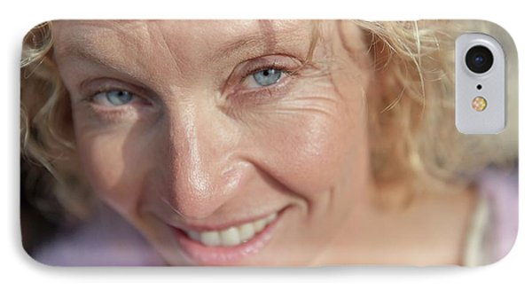 Mature Woman Smiling IPhone Case by Ruth Jenkinson