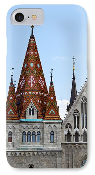 Matyas Church With Glazed Tiles In Budapest Hungary IPhone Case