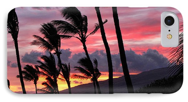Maui Sunset IPhone Case by Peggy Hughes