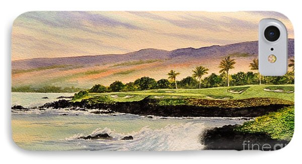 Mauna Kea Golf Course Hawaii Hole 3 IPhone Case by Bill Holkham