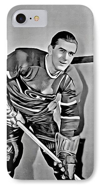 Maurice Richard Phone Case by Florian Rodarte