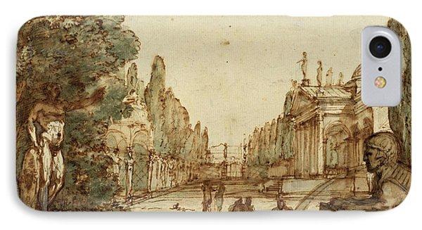 Mauro Antonio Tesi, Italian 1730-1766, Capriccio IPhone Case by Litz Collection