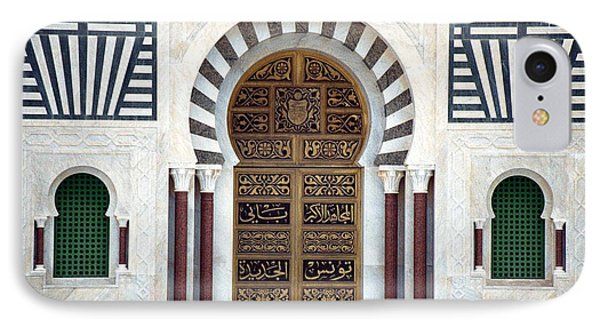 IPhone Case featuring the photograph Mausoleum Doors by Donna Corless