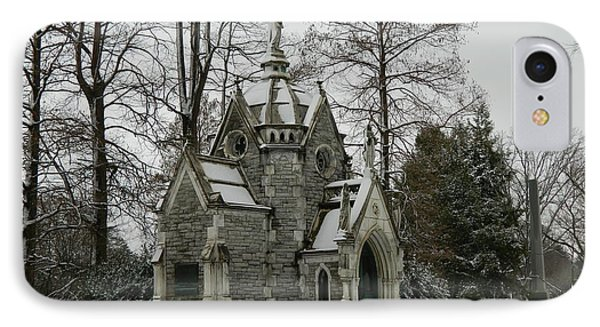 IPhone Case featuring the photograph Mausoleum In Winter by Kathy Barney