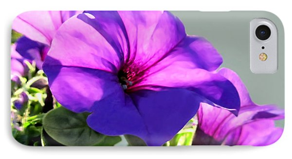 Mauve Petunia Trio Phone Case by Danielle  Parent