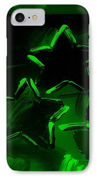 Max Two Stars In Green Phone Case by Rob Hans