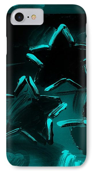 Max Two Stars In Turquois Phone Case by Rob Hans