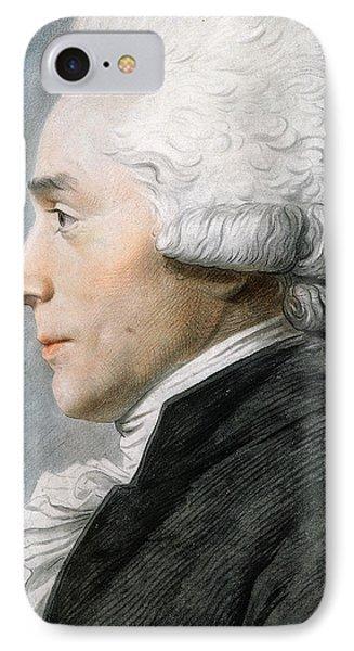 Maximilien De Robespierre  IPhone Case by Joseph Boze