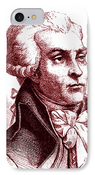 Maximilien Robespierre IPhone Case by Collection Abecasis