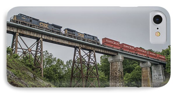 May 14 2014 - Csx 027 At Springfield Tn IPhone Case by Jim Pearson