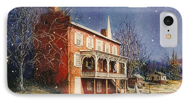 May House In Winter IPhone Case