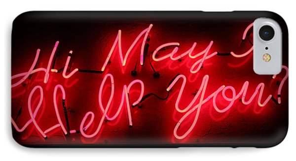 May I Help You IPhone Case by Lynn Sprowl