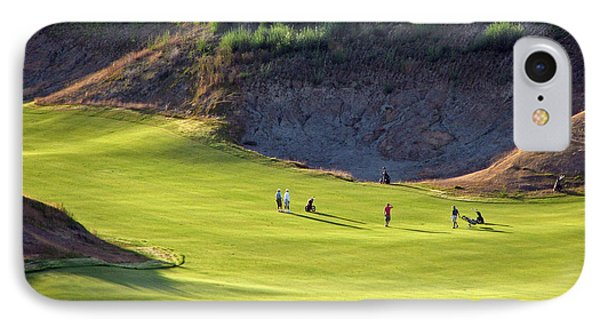 IPhone Case featuring the photograph May I Play Through? - Chambers Bay Golf Course by Chris Anderson