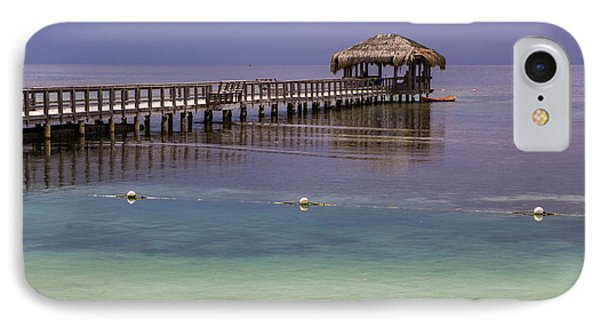Maya Key Pier At Roatan IPhone Case by Suzanne Luft