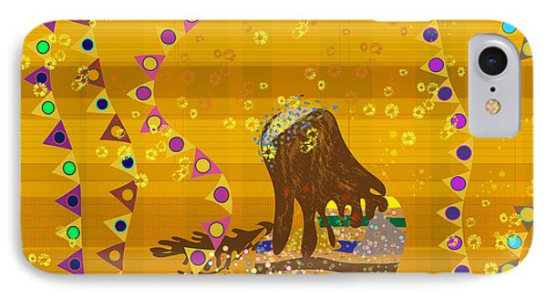 IPhone Case featuring the digital art Maya Prays by Kim Prowse