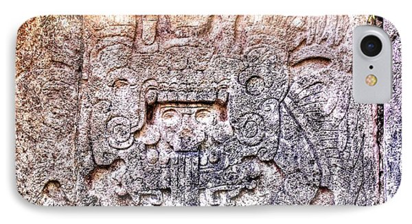 Mayan Hieroglyphic Carving Phone Case by Paul Williams
