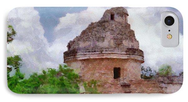 Mayan Observatory Phone Case by Jeff Kolker