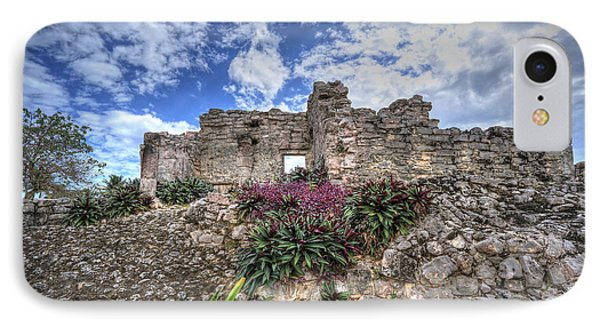 IPhone Case featuring the photograph Mayan Ruin At Tulum by Jaki Miller