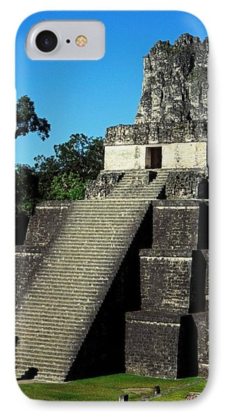 Mayan Ruins - Tikal Guatemala IPhone Case by Juergen Weiss